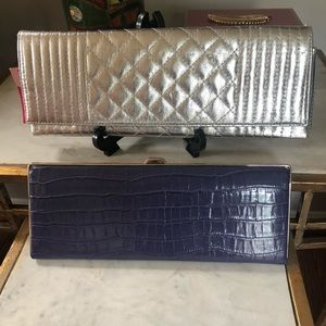 Bundle of 2 clutches, Silver and Purple